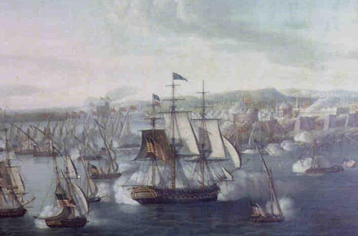 New page 0 a naval battle in 1804 in tripoli harbor the captain didnt aim the cannon he aimed the ship publicscrutiny Images